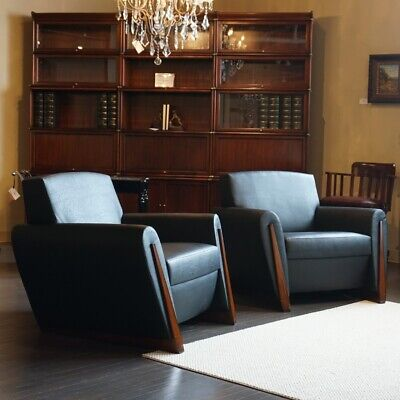 Beautiful Transitional 2 seater Love Seat and 2 chairs in Mahogany and Black