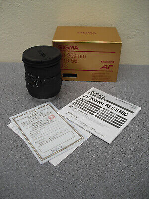 Sigma Zoom lens 28-200mm F3.8-5.6 boxed used only a couple of times