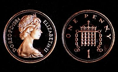 UK 1984 Proof 1p Coin (One Penny/Pence)