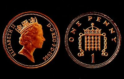 UK 1986 Proof 1p Coin (One Penny/Pence)