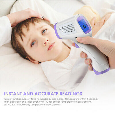 IR Infrared Digital Forehead Fever Thermometer Non-Contact Baby & Adult Body