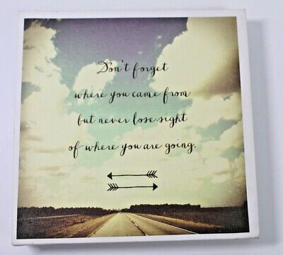 Mounted Canvas Inspirational Quote Print Wall Painting Home Art Decor Arrows