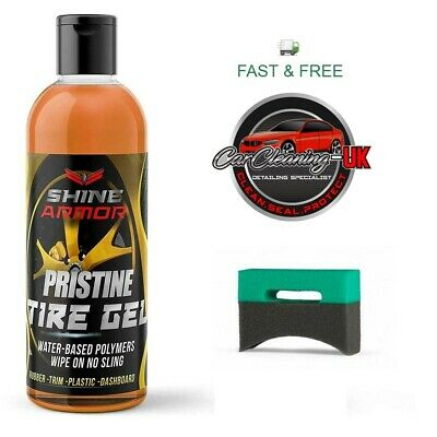 SHINE ARMOR PRISTINE TIRE SHINE GEL 4oz Included 1 Premium applicator