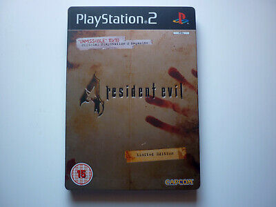 PS2 Resident Evil 4 Steelbook with Making of DVD Mint Condition UK/PAL