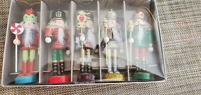 Nutcracker Ornament Set - Wooden - Pier 1 - 2019 Collection - Brand New