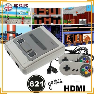 Retro HDMI TV Video Games Console 621 games SNES + 2pc Game Controllers Set UK