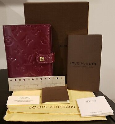 Authentic Louis Vuitton Vernis Agenda PM Monogram CA4067