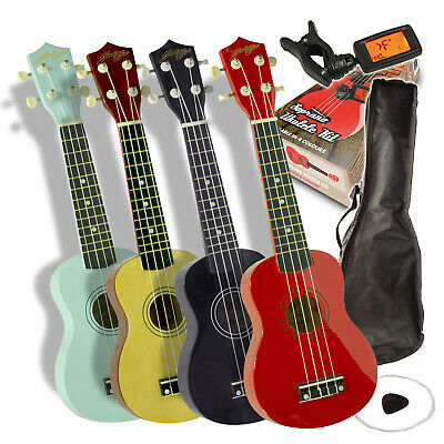 CHOICE Johnny Brook Soprano Ukulele Kit with Bag Tuner Picks and Spare Strings