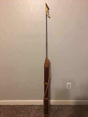 "Vintage Whale Harpoon 65"" Metal Wood"