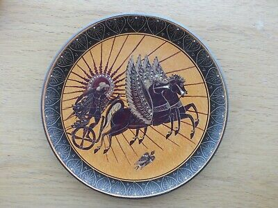 """Ancient Greek Reproduction Replica Plate 450 Bc 9"""" 23Cm Hand Made"""