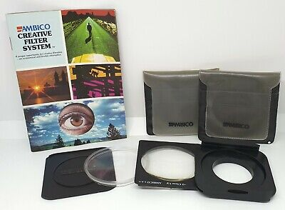 Ambico Creative Filter System - Filter Holder & 2 Filters - fits 49 mm thread