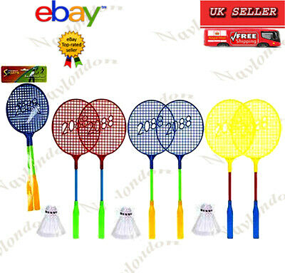 Badminton Metal Twin Set With 1 Shuttlecocks Plastic Great Stability Adult Kids