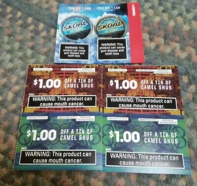 Skoal Coupons Camel Snus $7 Worth of Coupons Chewing Tabacco Pouches Save Money