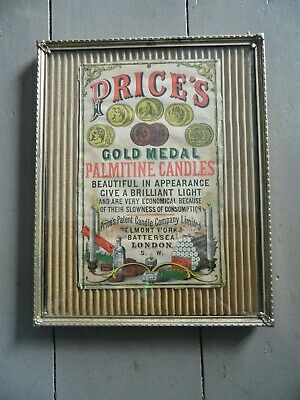 Antique c1880 Advertising Print PRICES GOLD MEDAL PALMITINE CANDLES London Ad