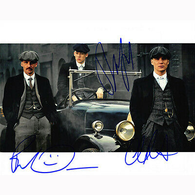 Peaky Blinders Cast by 3 (53845) - Autographed In Person 8x10 w/ COA