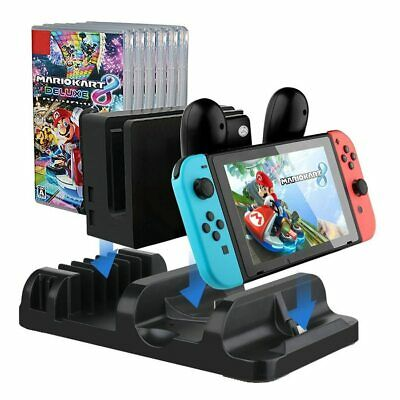 Nintendo Switch Console Multifunctional Charging Dock Station Game Card Storage