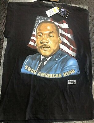 Vintage T Shirt - Black MLK Martin Luther King True American Hero 3XL Memorial