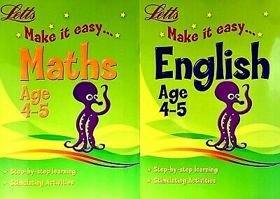 Maths And English,  Ages 4-5, Letts Children's Workbooks, Set Of 2 Books, New