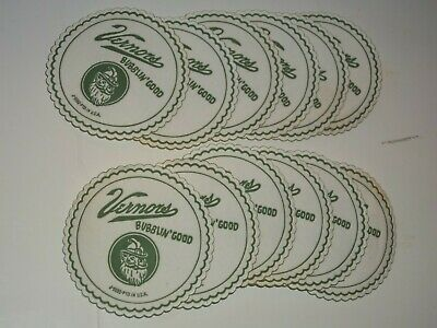 """FREE MAILING,12-1960VERNORS GINGER ALE Gnome,Soda Fountain COASTER""""Bubblin'Good"""""""