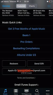 Itunes £100 Credit Like Gift Card