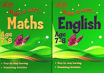 Maths And English, KS2 Ages 7-8, Letts Children's Workbooks, Set Of 2 Books, New