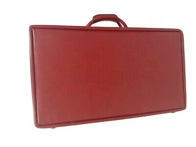 VINTAGE HARTMANN LUGGAGE Red Leather See DESCRIPTION