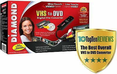Diamond VC500 USB 2 One Touch VHS to DVD Video Capture Converter VC500