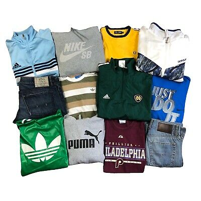 Vintage 10 Items Branded Wholesale Mixed Clothing Reseller Starter Box