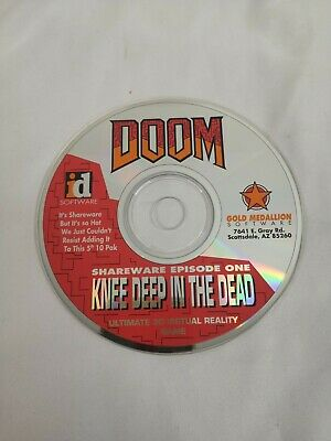 Doom Shareware Episode One 3D Virtual Reality Game Cd-Rom Knee Deep In The Dead