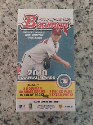 2010 Bowman Baseball (3) Factory Sealed Blaster Box with BOWMAN CHROME Cards