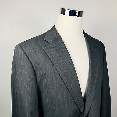 Brooks Brothers 40R BrooksCool Suit Jacket Gray Striped Wool Blend Two Button