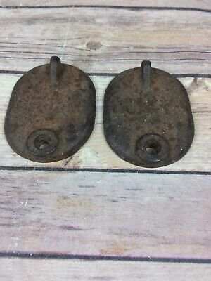 2- Vintage Antique Cast-Iron Duck Decoy Anchors Weights