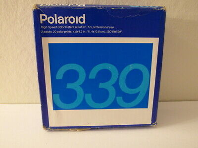 New Sealed 2-10 Packs Genuine Original Polaroid 339 Instant Film Fridged Exp 97
