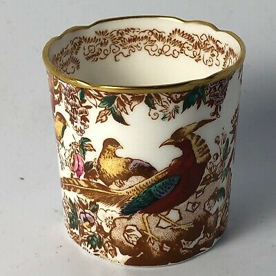 Royal Crown Derby English Bone China Olde Avesbury Toothpick Holder England
