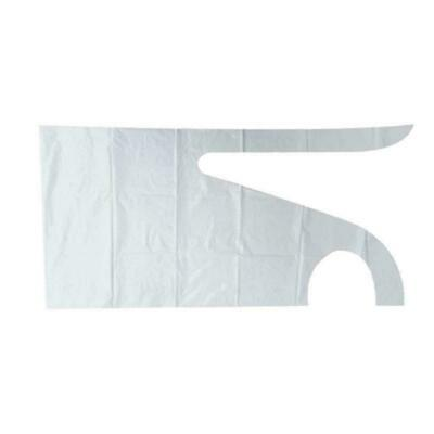 White Blue Flat Pack & Roll of Disposable Plastic Aprons High Polythene I7J5