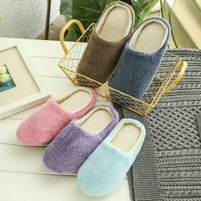 Chic Men Women Home Anti-slip Shoes Indoor Slippers Shoes Soft Warm Cotton House