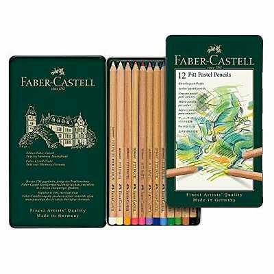 Faber-Castell Pitt pastel colored pencils 12 color set canned 112112
