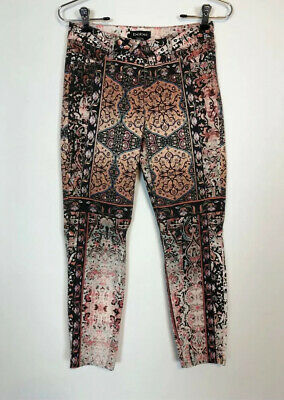 Bebe Multicolor Rustic Ankle Crop Leggings Pants Womens Size 25 Casual Stretch