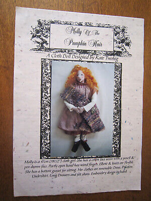 Molly Of The Pumpkin Hair A Cloth Doll Pattern Designed By Kate Twohig