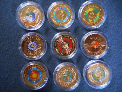 75 anniversary end of ww2 repatriation anzac coloured $2 coins set uncirculated