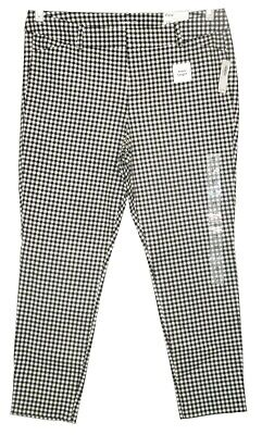 Old Navy Black/White Checkered Pixie Ankle Pants Stretch NWT New 14 16 Petite