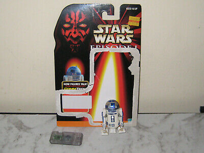 Star Wars Episode 1 R2-D2 Figure With Rockets,Card,And Commtech Chip-Used