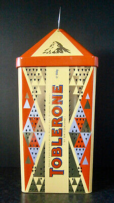 TOBLERONE SWISS CHOCOLATE CHRISTMAS LANTERN TIN CANDLE HOLDER Perforated Sides
