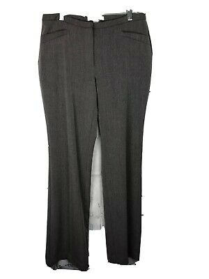Chico's Womens Dress Pants Flat Front Career Stretch Gray Sz 0 Small 4