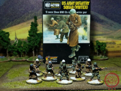 28mm DPS painted Bolt Action2 WW2 US army Infantry, Warlord Games RC558