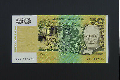 1991 $50 Fifty Dollar Fraser Cole Banknote  aUNC  R513