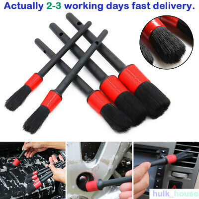5X Car Brush Set Detailing Detail For Cleaning Wheels Engine Emblems Air Vents