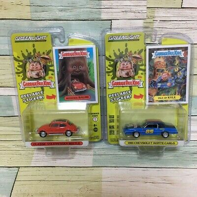 GARBAGE PAIL KIDS Green Light Model Car with Sticker 2 sets GPK from Japan