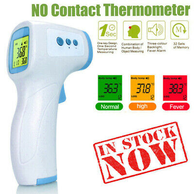 Non Contact LCD Digital IR Infrared Forehead Thermometer Adult Body Temperature