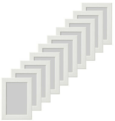 10 Piece Set Ikea Fiskbo 13x18cm White Photo Frame Picture New Boxed Stands